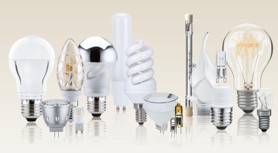 Auswahl diverser LED-Leuchmittel