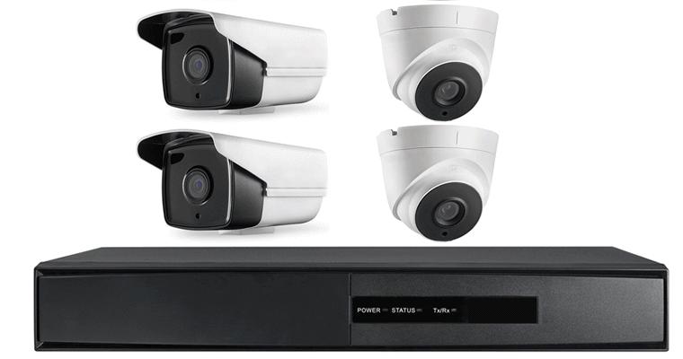 Videoüberwachung: Rekorder mit Kameras