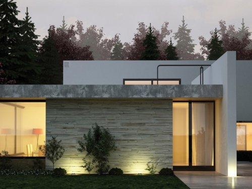 Gut ausgeleuchtetes Haus